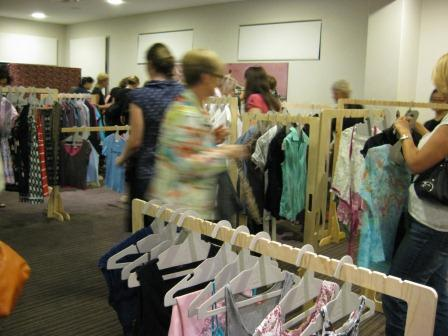 A Clothes Swap Party in action as part of National Recycling Week