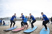 Greek Presidential Guard Surfs