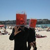 Waste heads on Bondi Beach.