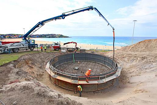 Bondi Stormwater harvesting project build 2012.