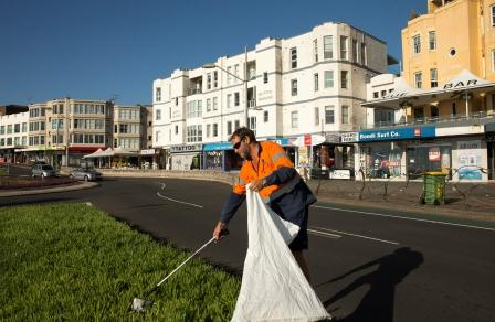 Public place cleansing on Campbell Parade, Bondi