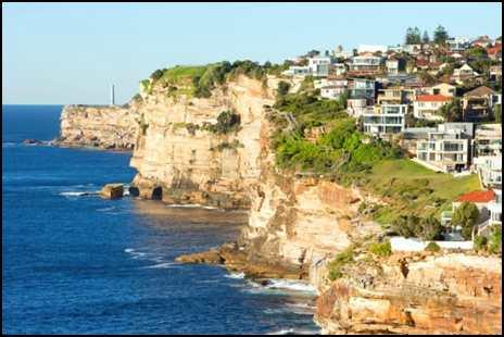 The Waverley coastline