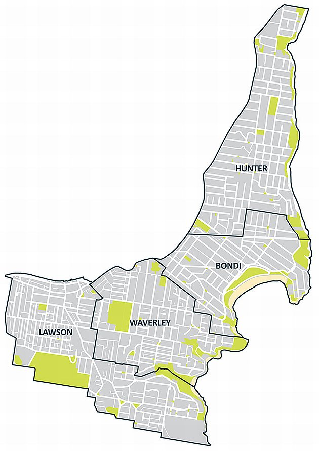 Waverley Planning Maps Wards   Waverley Council Waverley Planning Maps